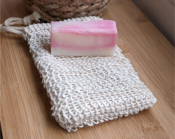 guest soap and sisal bag