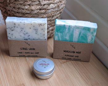soap and lip balm