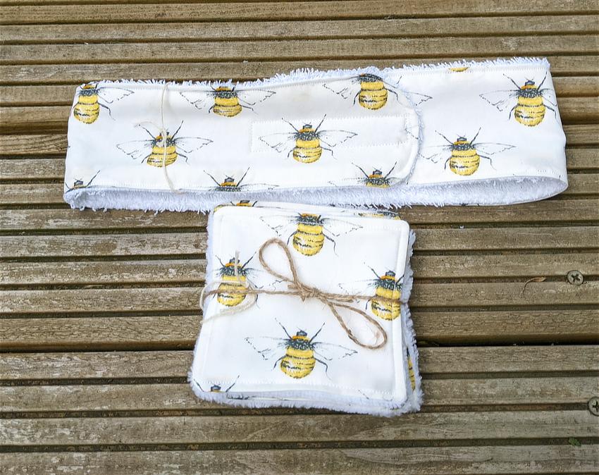 headband and wipes bees