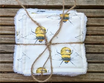 bees reuseable face wipes