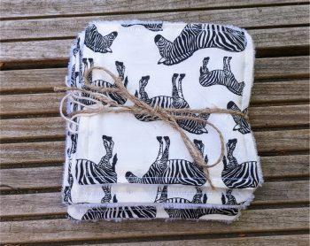 zebra reuseable face wipes