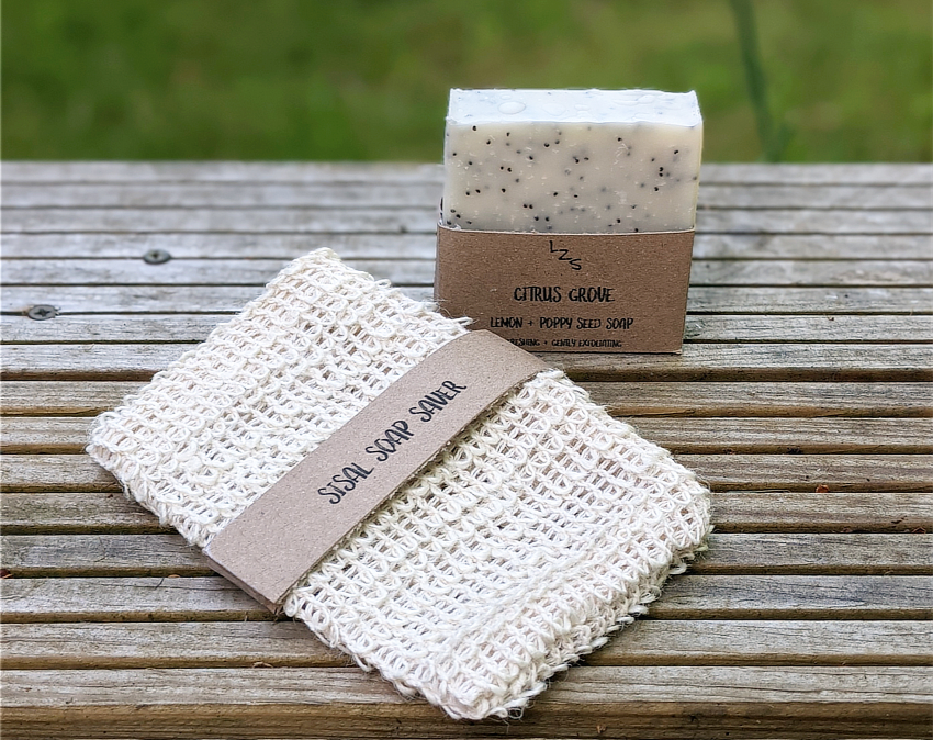 soap and sisal soap saver